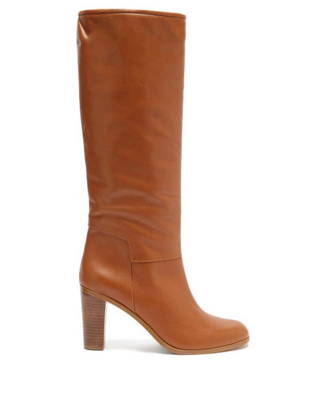 A.P.C. A.P.C. - Marion Knee-high Leather Boots - Womens - Tan