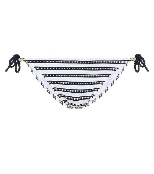 Heidi Klein Corsica striped bikini bottoms in blue