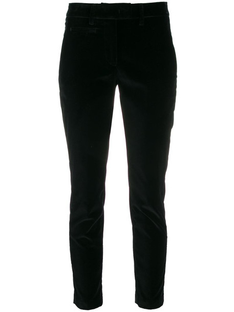 Dondup cropped slim-fit trousers in black