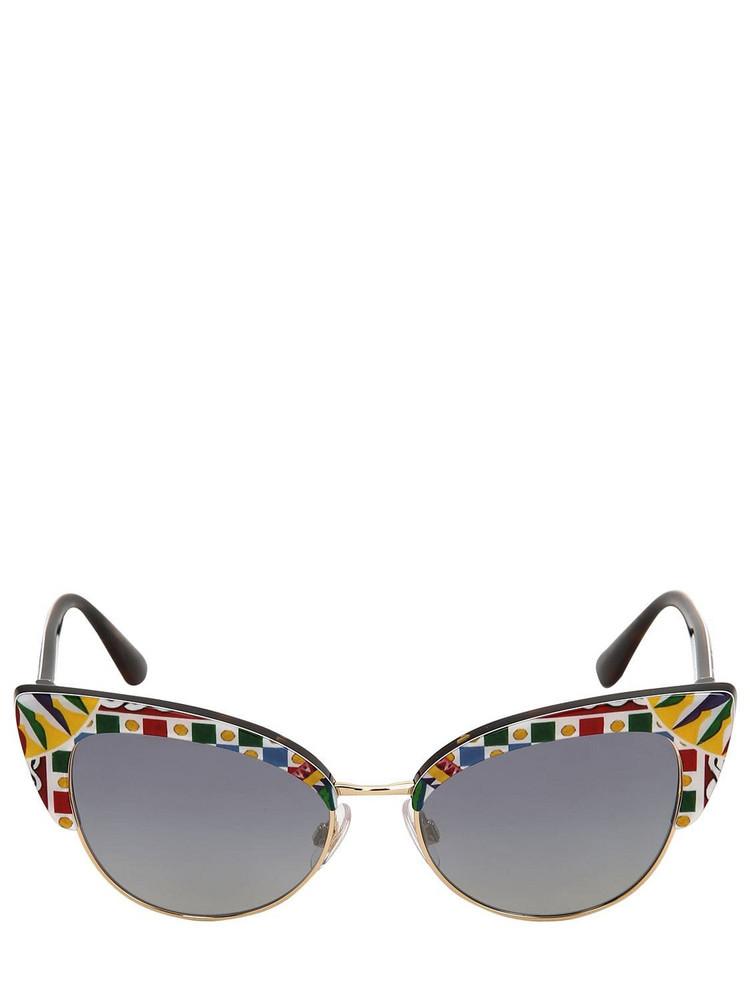 DOLCE & GABBANA Carretto Print Cat Eye Sunglasses