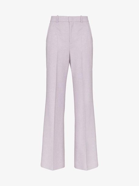 Joseph jess high-rise herringbone wool trousers in purple