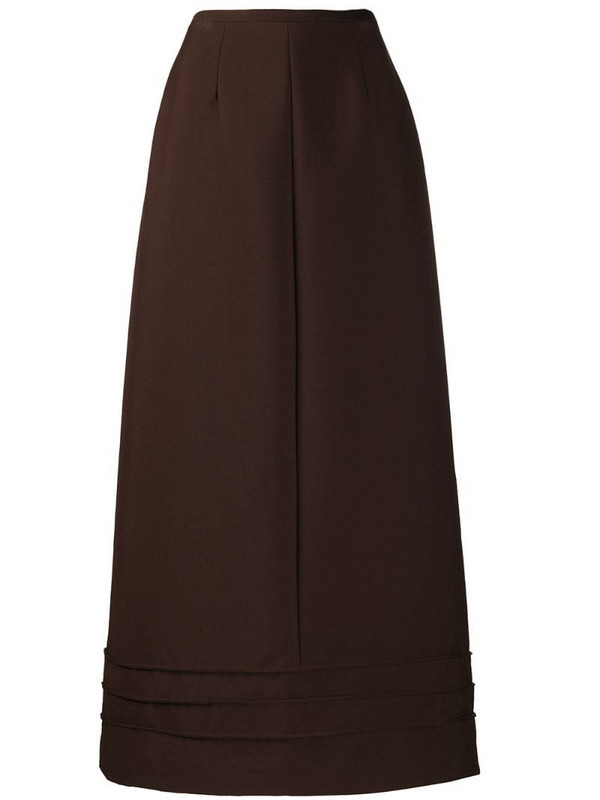 Jean Louis Scherrer Pre-Owned '1990s maxi skirt in brown