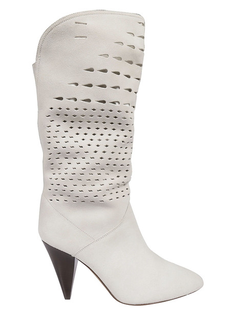 Isabel Marant Perforated Boots in white