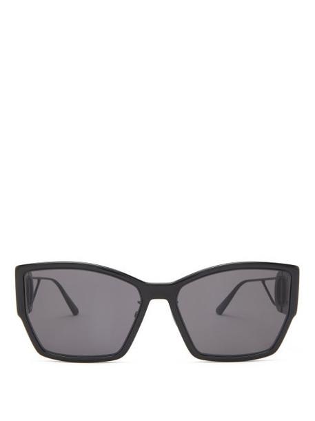 Dior - 30montaigne Rectangle Acetate Sunglasses - Womens - Black Grey