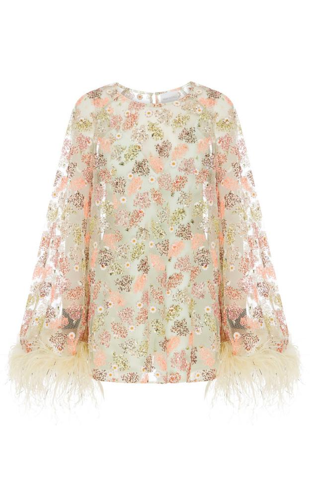 Alice McCall Celestial Creature Feather Swing Dress in green
