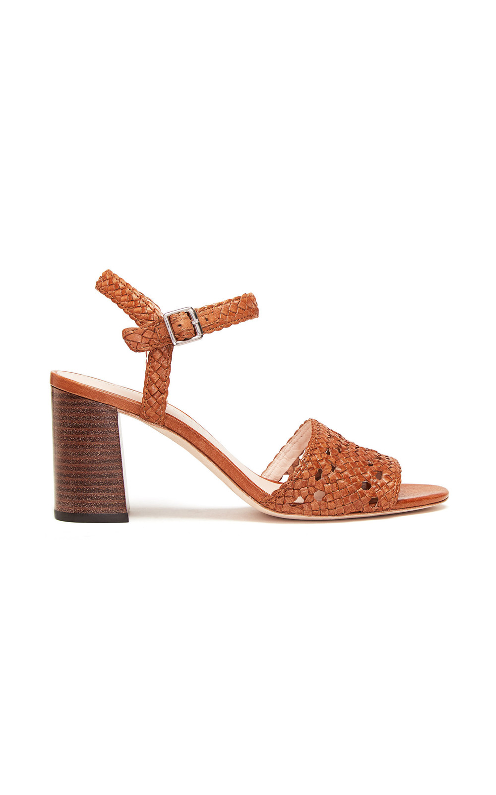 Loeffler Randall Liana Woven Leather Sandals in brown