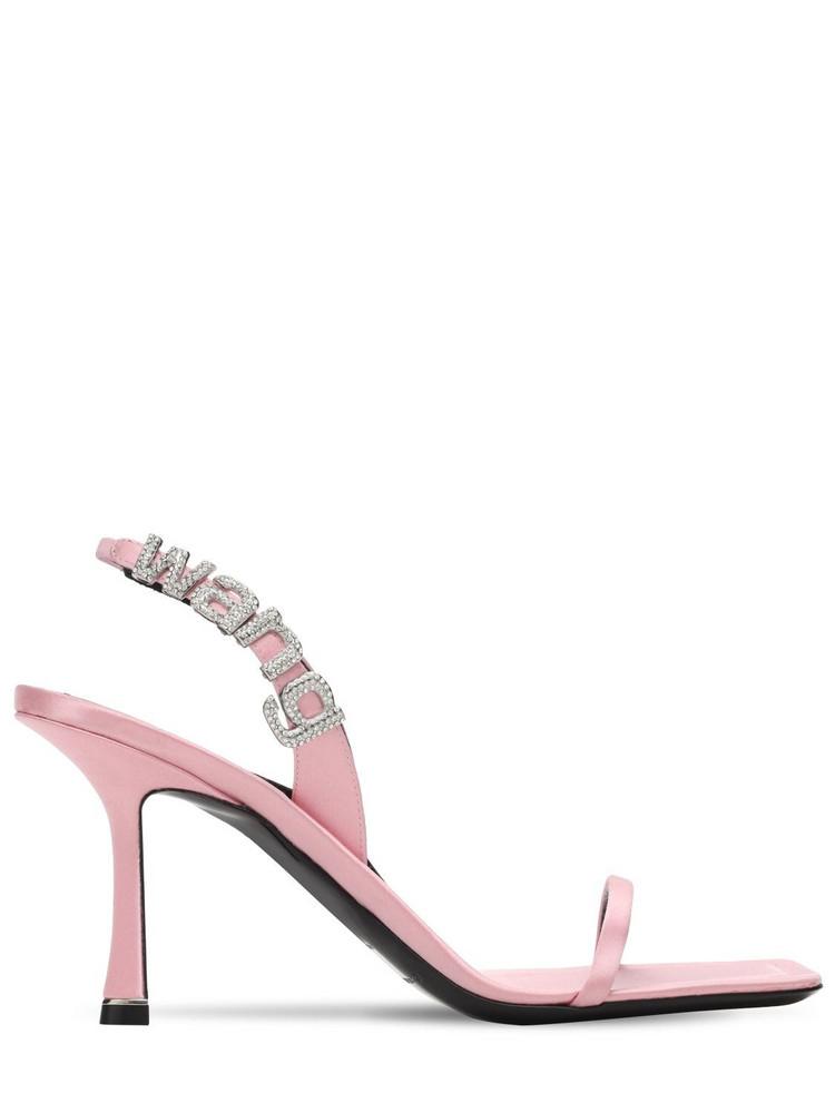 ALEXANDER WANG 85mm Ivy Embellished Satin Sandals in pink