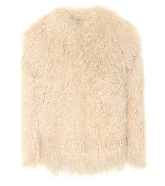 Saint Laurent Shearling jacket in beige