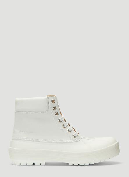 Jacquemus Les Meuniers Hautes Lace-up Boots in White size EU - 37