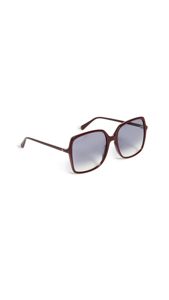 Gucci Ultralight Acetate Square Sunglasses in blue / burgundy
