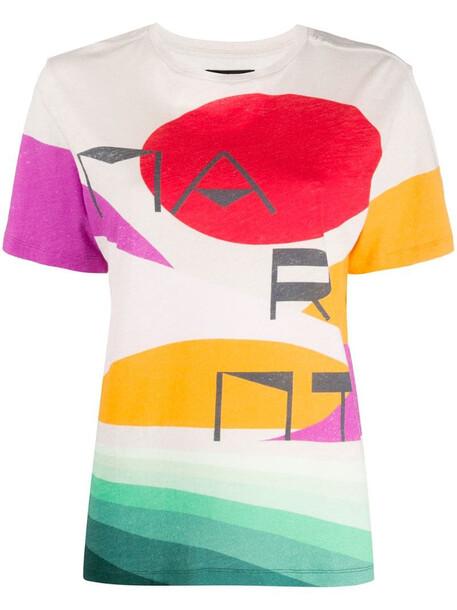 Isabel Marant Zewel printed T-shirt in neutrals