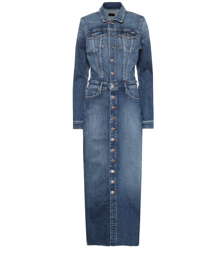Mother Cover Up denim maxi dress in blue