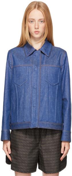 Fendi Orange & Off-White 'Forever Fendi' Shirt Jacket