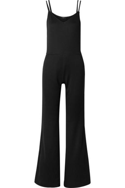 Twenty - Olympic Linen-blend Mesh Jumpsuit - Black