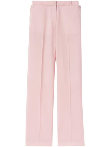 Burberry pocket detail tailored trousers in pink