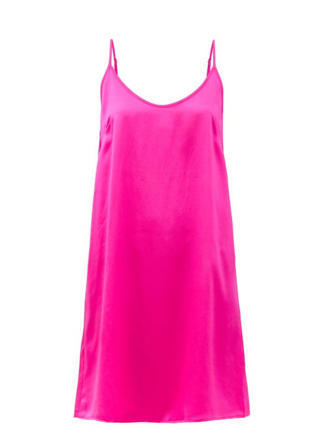 Araks - Pearl Washed-silk Slip Dress - Womens - Fuchsia