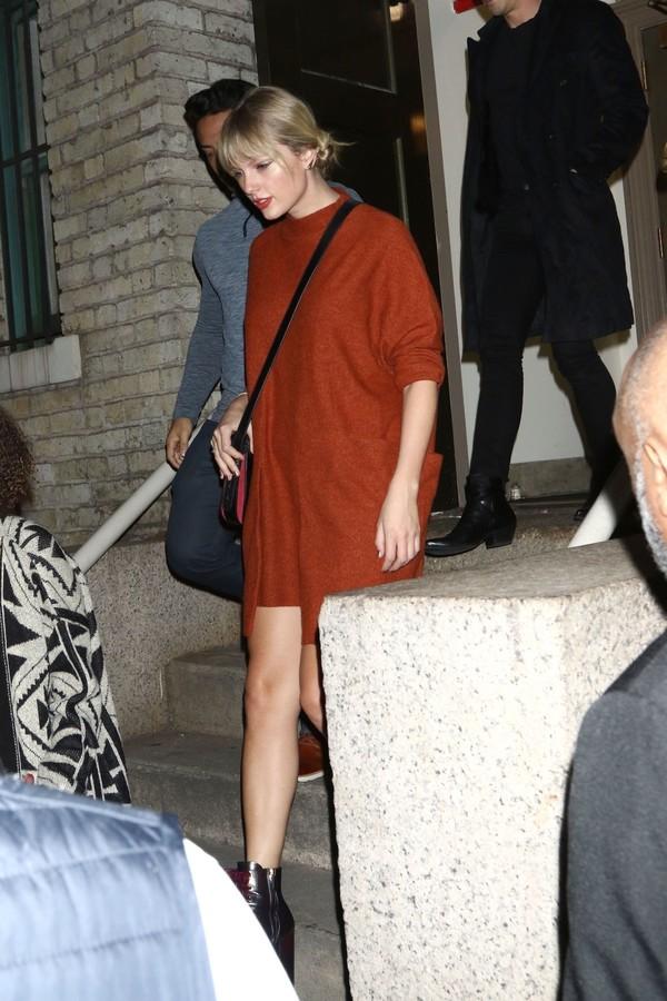 dress sweater dress red dress red hailey baldwin celebrity taylor swift fall dress fall outfits