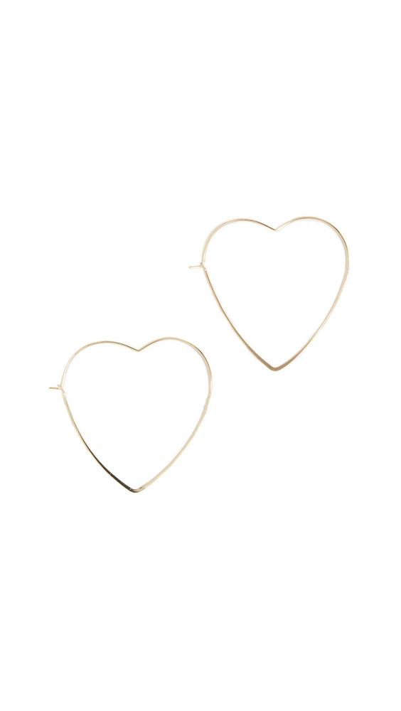 Jules Smith Love Me Hoop Earrings in gold / yellow