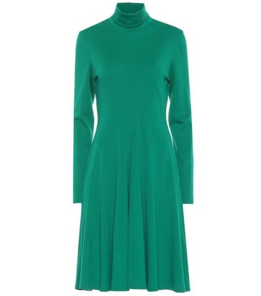 Calvin Klein 205W39NYC Wool jersey turtleneck dress in green