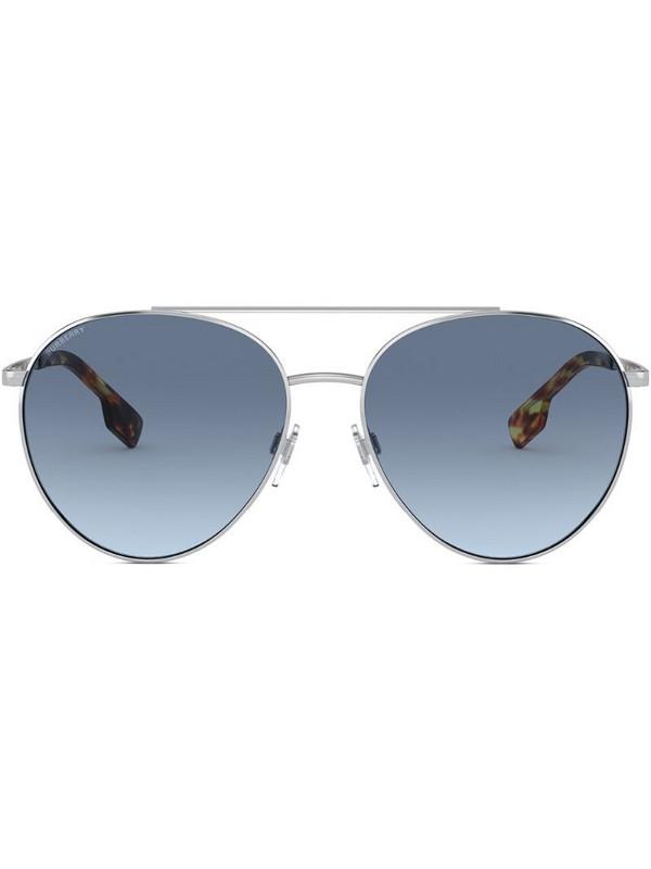 Burberry Eyewear aviator-frame sunglasses in silver