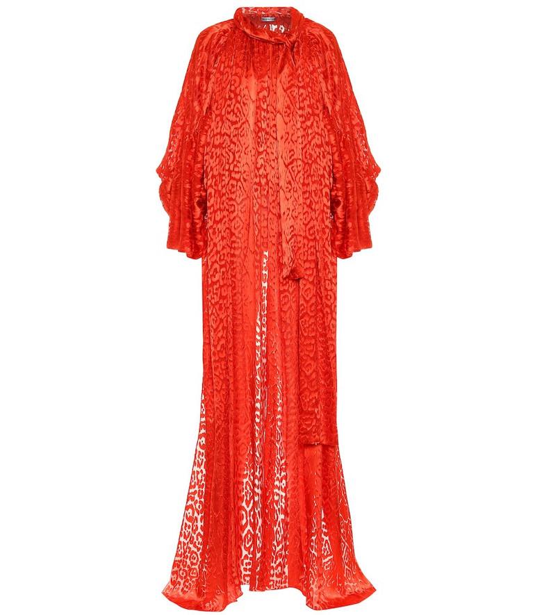 Balenciaga Silk-blend top in red