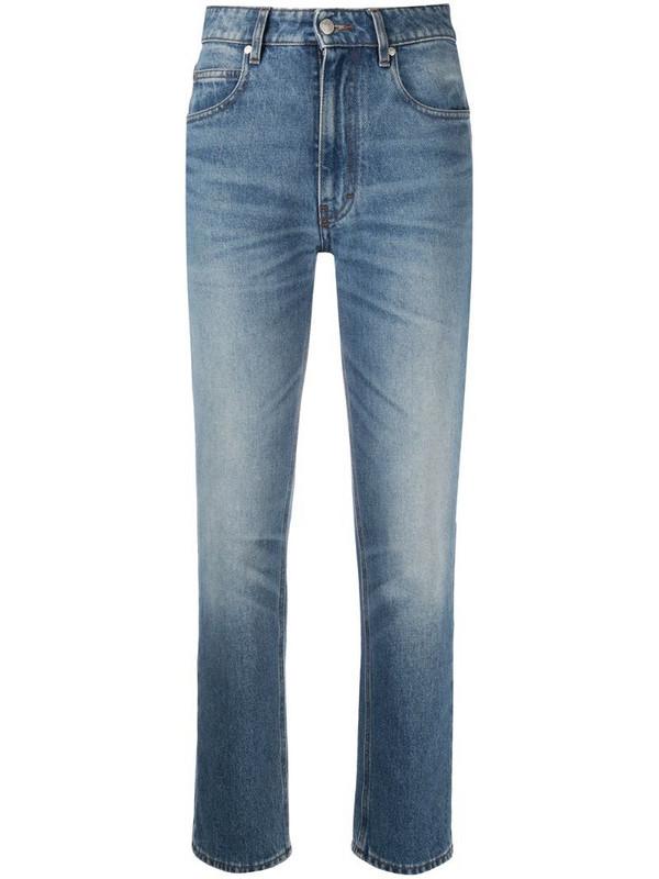 AMI Paris high-waisted straight-leg jeans in blue