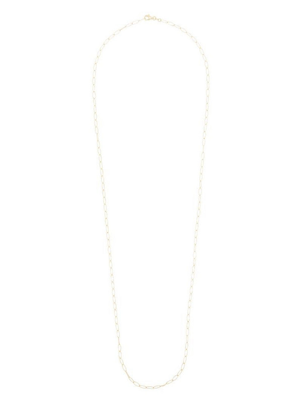 Loquet 14K yellow gold oval-chain long necklace
