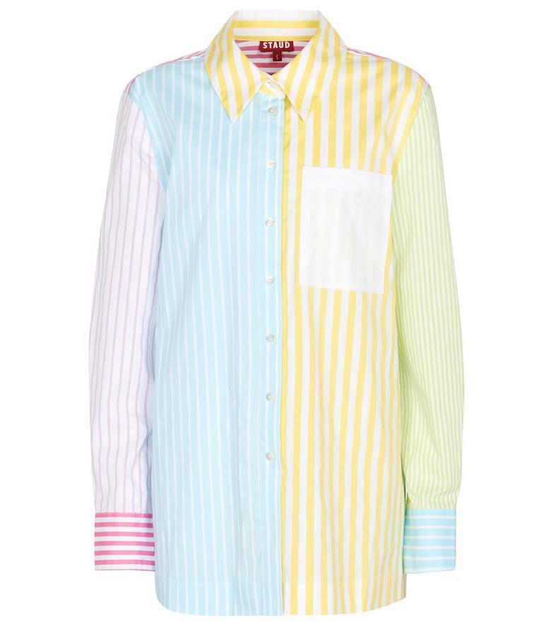Staud Martha striped cotton shirt