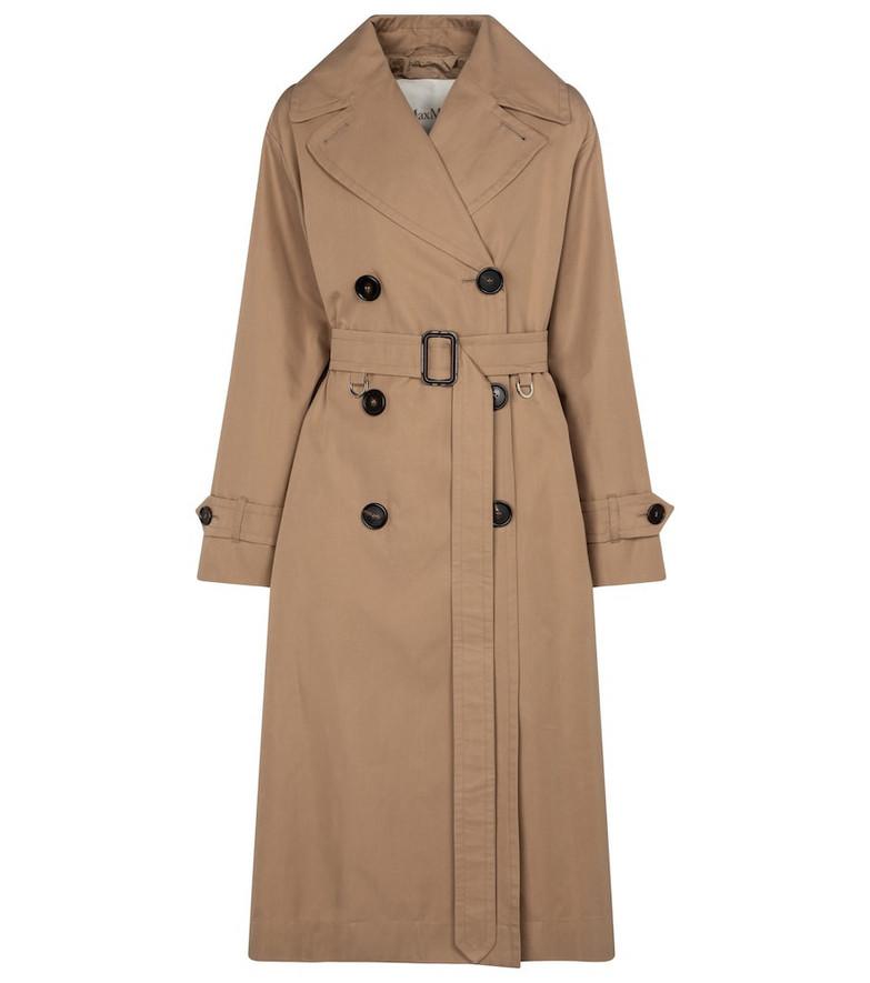 Max Mara Dimper cotton gabardine trench coat in beige