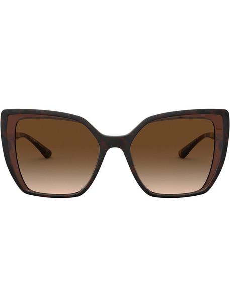 Dolce & Gabbana Eyewear oversize-frame sunglasses in brown