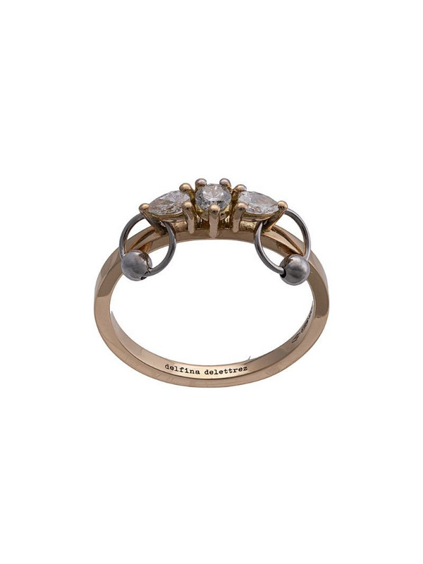 Delfina Delettrez 18kt yellow gold Two-in-one diamond ring