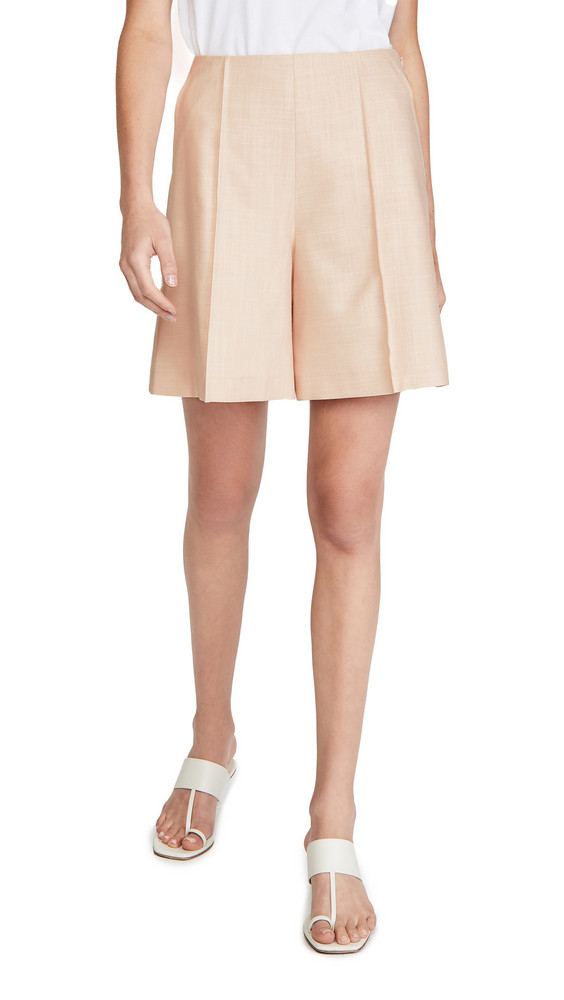 Adeam High Waisted Shorts in rose