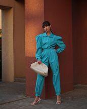 pants,high waisted pants,shirt,white sandals,bag