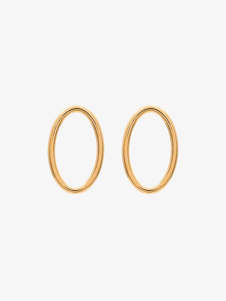 All Blues 18kt Yellow Gold Smooth Medium Hoop Earrings