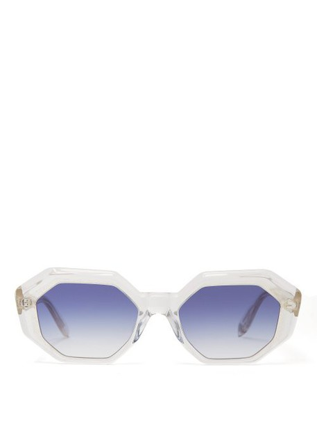 Garrett Leight - Jacqueline Oval Frame Sunglasses - Womens - Blue