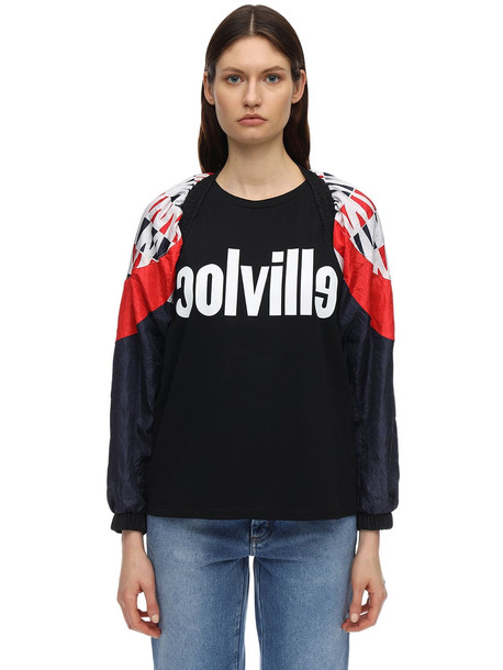 COLVILLE Vintage Sleeves Jacket in navy / red