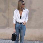 ms treinta,blogger,coat,shirt,jeans,bag,jewels