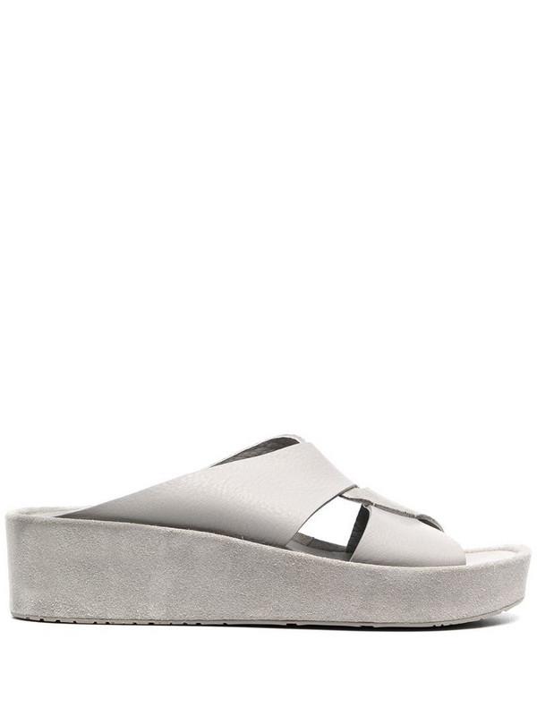 Pedro Garcia cross strap platform sandals in grey