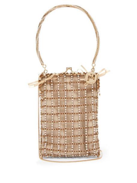 Rosantica By Michela Panero - Robin Crystal Embellished Clutch Bag - Womens - Crystal Multi