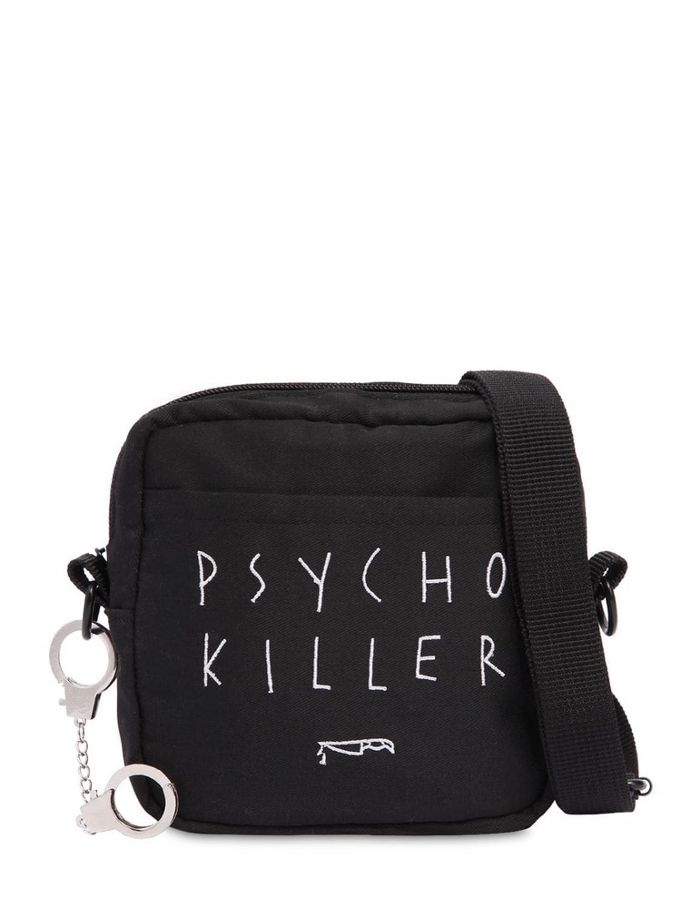 AZS TOKYO Psycho Killer Cotton Twill Shoulder Bag in black