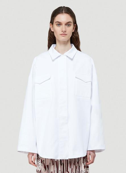 Valentino Oversized Denim Jacket in White size IT - 38