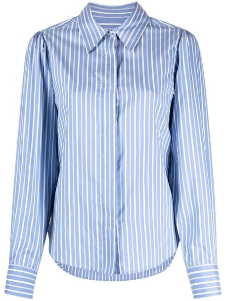 Isabel Marant Edrissa striped silk shirt in blue
