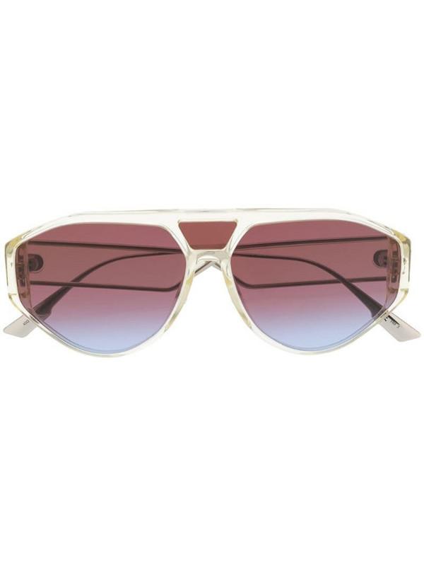 Dior Eyewear DiorClan1 aviator-frame sunglasses in metallic