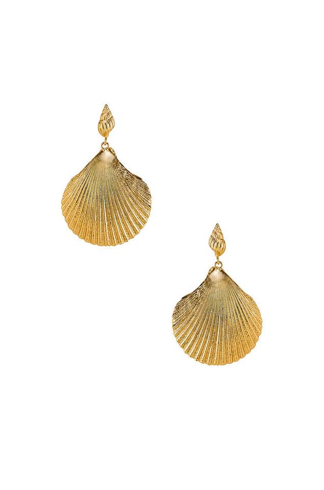 Amber Sceats Katrina Earrings in gold / metallic