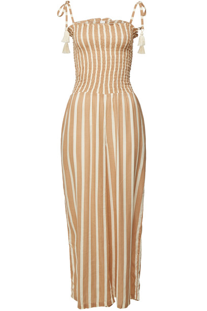 coolchange Katrina Toiny Printed Jumpsuit  in beige / beige