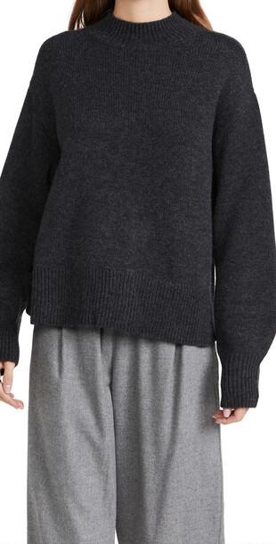 Le Kasha Osaka Cashmere Sweater in charcoal