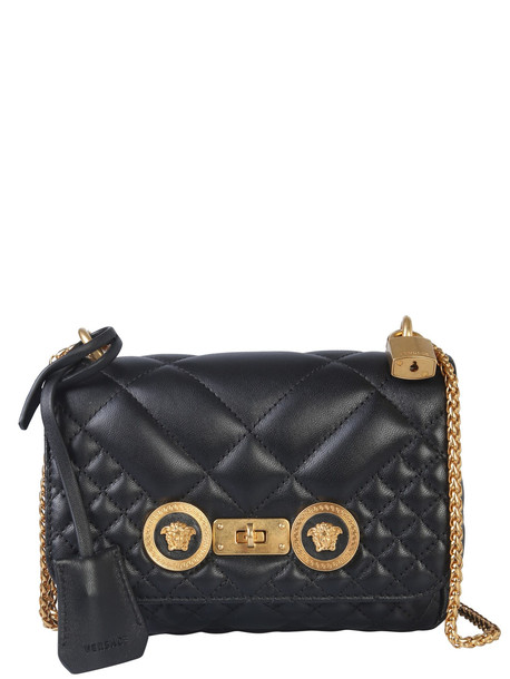 Versace Small Icon Shoulder Bag in nero
