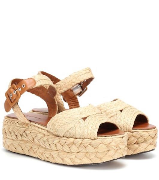 Clergerie Aude raffia sandals in beige / beige