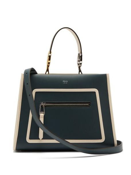 Fendi - Runaway Leather Bag - Womens - Green Multi