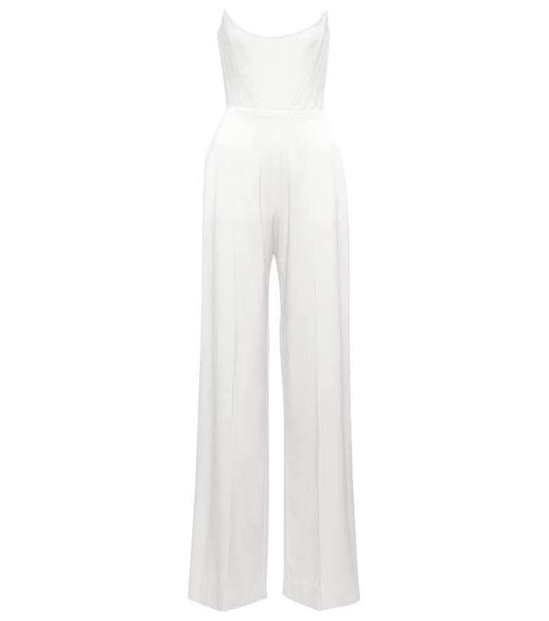 Alex Perry Exclusive to Mytheresa – Bridal Slaine satin-crêpe jumpsuit in white